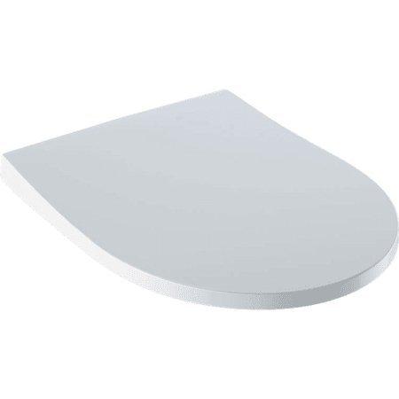 Capac WC slim Geberit iCon Round cu inchidere lenta, alb